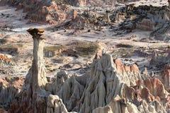 połowa akrów badlands piekła Wyoming zdjęcie royalty free