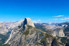 połowa kopuły kalifornijskie park narodowy Yosemite fotografia stock