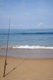 połowowej na plaży Obraz Royalty Free