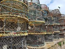 Połowu crabbing garnki zdjęcie stock
