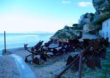 Połowu miejsce Scopello w Sicily, Włochy - fotografia stock
