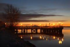 Połowu mola ranek, Fraser rzeka Obrazy Stock