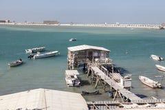 Połowu molo w Manama, Bahrajn Obrazy Royalty Free