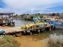 Połowu port na wschodnim wybrzeżu Cypr Obrazy Royalty Free