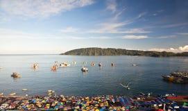 Połowu port w ranku Fotografia Stock