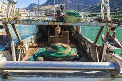 Połowu port z starymi łodziami rybackimi w Sicily, Włochy Obraz Royalty Free