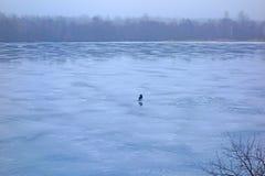 połowu rybi lód właśnie kłama Russia Transbaikalia łapać w pułapkę zima Obraz Royalty Free