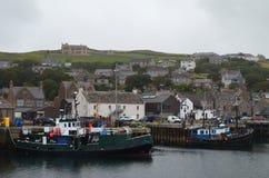 Połowu schronienie Stromness drugi ludny miasteczko w stałym lądzie Orkney, Szkocja zdjęcie stock