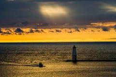 Przychodzący Do domu Betsie zatoka, Michigan. Obraz Stock