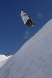połowy rury snowboarder samica fotografia royalty free