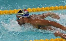 Południe - afrykańska Olimpijska i światowa mistrz pływaczka Czad Le Clos Fotografia Royalty Free