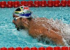 Południe - afrykańska Olimpijska i światowa mistrz pływaczka Czad Le Clos Zdjęcie Stock