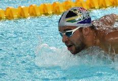 Południe - afrykańska Olimpijska i światowa mistrz pływaczka Czad Le Clos Zdjęcia Stock