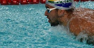 Południe - afrykańska Olimpijska i światowa mistrz pływaczka Czad Le Clos Obrazy Stock