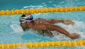 Południe - afrykańska Olimpijska i światowa mistrz pływaczka Czad Le Clos Obraz Stock