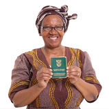 Południe - afrykańska starsza kobieta zdjęcie royalty free