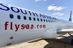 Południe - afrykański drogi oddechowe samolot Fotografia Stock