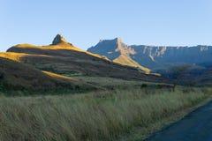 Południe - afrykański punkt zwrotny, Amphitheatre od Królewskiego Natal obywatela P Obraz Stock