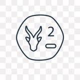 Południe - afrykańskiego skraju wektorowa ikona odizolowywająca na przejrzystym backgroun ilustracja wektor