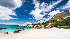 Południe - afrykanin plaży krajobraz zdjęcia stock