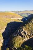 Południe - afrykanina krajobraz wzdłuż drogi Franschhoek Obraz Royalty Free