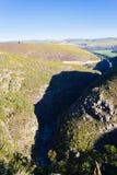 Południe - afrykanina krajobraz wzdłuż drogi Franschhoek Obrazy Stock