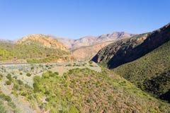 Południe - afrykanina krajobraz wzdłuż drogi Franschhoek Zdjęcie Royalty Free