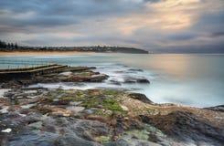 Południe kędzioru kędzioru seascape Zdjęcia Stock