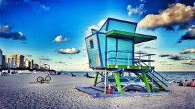 Południe plaża lub południe plaża? fotografia stock