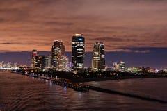 Południe plaża, Miami plaża Floryda Miami przy nocą Luksusowy życia pojęcie obrazy royalty free