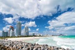 Południe plaża, Miami plaża Floryda zdjęcie royalty free