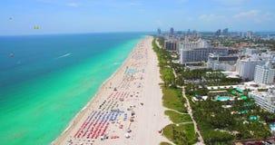 Południe plaża, Miami plaża Floryda widok z lotu ptaka zbiory wideo