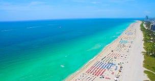 Południe plaża, Miami plaża Floryda widok z lotu ptaka zdjęcie stock