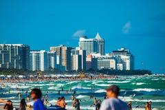 Południe plaża w Miami plaży, Floryda, Stany Zjednoczone obrazy stock