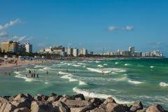 Południe plaża w Miami plaży, Floryda, Stany Zjednoczone obraz royalty free