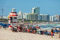Południe plaża w Miami plaży, Floryda, Stany Zjednoczone fotografia royalty free