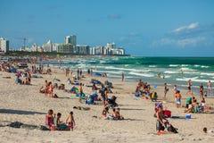 Południe plaża w Miami plaży, Floryda, Stany Zjednoczone obrazy royalty free