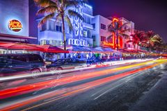Południe Plażowy Miami obrazy royalty free