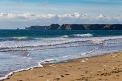 Południe Plażowy Tenby, UK obraz stock
