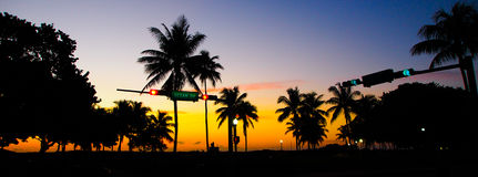 Południe plażowy zmierzch Fotografia Royalty Free