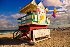 Południe plaży wierza Zdjęcia Royalty Free