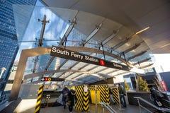 Południe promu metra wejście Zdjęcia Royalty Free