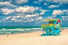 Południe Wyrzucać na brzeg, Miami, Floryda, ratownika dom zdjęcia royalty free