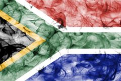 Południowa Afryka dymu flaga na białym tle Obrazy Stock