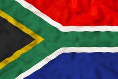 Południowa Afryka flaga państowowa z falowanie tkaniną Zdjęcie Royalty Free