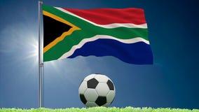 Po?udniowa Afryka futbolu i trzepota? chor?gwiane rolki