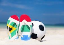 Południowa Afryka piłki nożnej pucharu świata plaży sporta pojęcie Fotografia Stock