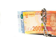 Południowa Afryka pieniądze bezpieczeństwo Obrazy Stock