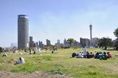 Południowa Afryka: Widok nad Johannesburg blisko Vodaphone zdjęcia royalty free