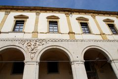 Południowa fasada budynku lombard w Padua w Veneto (Włochy) Zdjęcia Stock